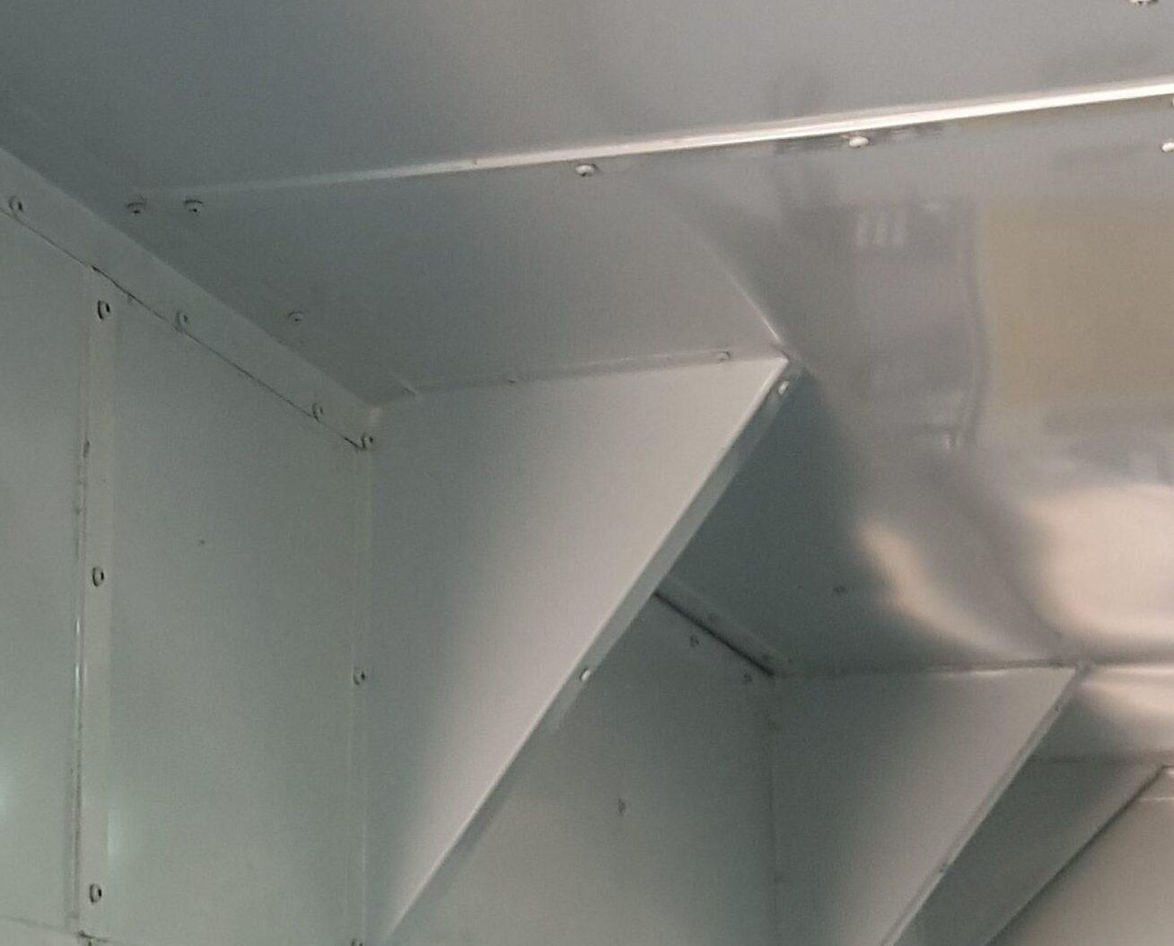 Metallic suspended ceiling